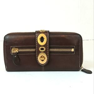 Coach Legacy Turnlock Leather Wallet